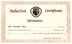 Adventurer Induction Cert.