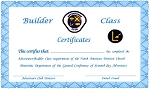 Builder Completion Cert. TOTALLY NEW REDESIGNED CERTIFICATES!
