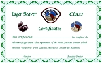 Eager Beaver Completion Cert. TOTALLY NEW REDESIGNED CERTIFICATES!