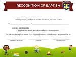 Adventurer Baptismal - 2020 TOTALLY NEW REDESIGNED CERTIFICATES!
