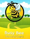 Busy Bee Record Card (NEW) (SPANISH)