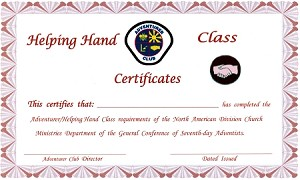 Helping Hand Completion Cert. TOTALLY NEW REDESIGNED CERTIFICATES!
